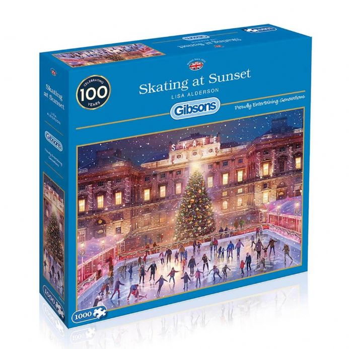 Skating at Sunset by Lisa Alderson 1000 Piece Gibsons Jigsaw